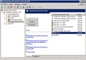 PHP 4.4.9 sous IIS 6